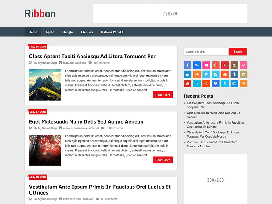 Ribbon Free WordPress Magazine Theme