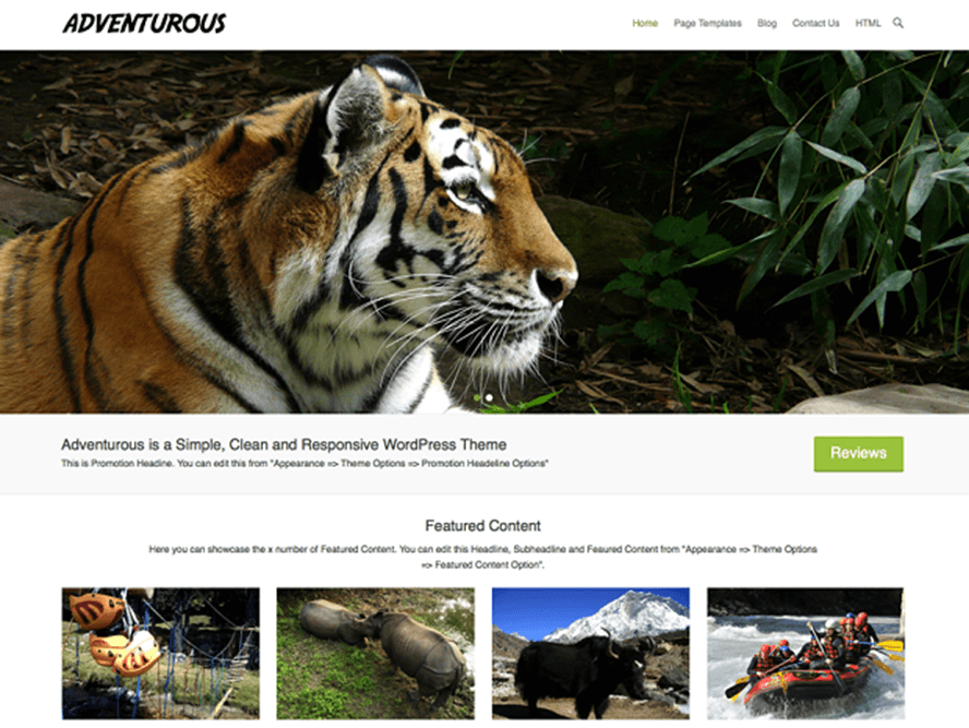 adventurous Best Free Photography WordPress Themes 2