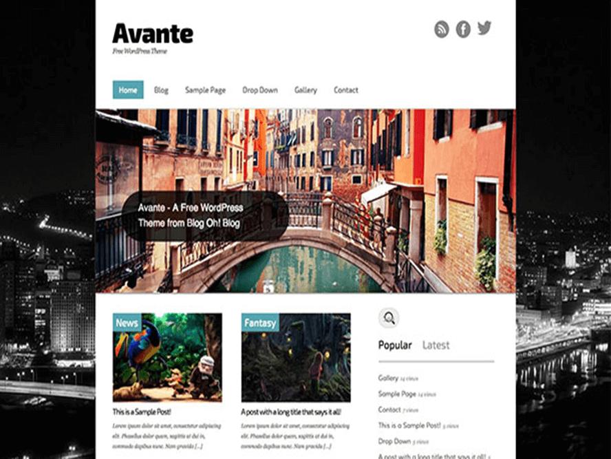 avante theme Best Free Responsive Magazine