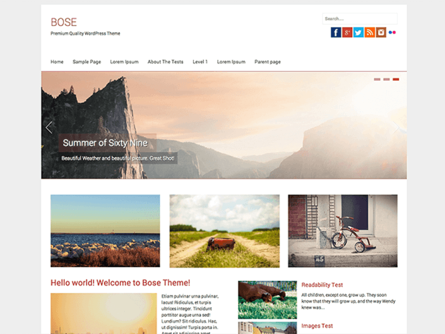 bose Best Free Photography WordPress Themes 2