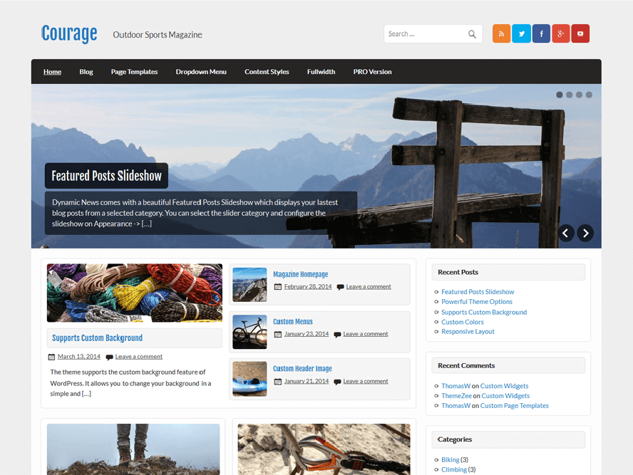 courage theme Best Free Responsive Magazine