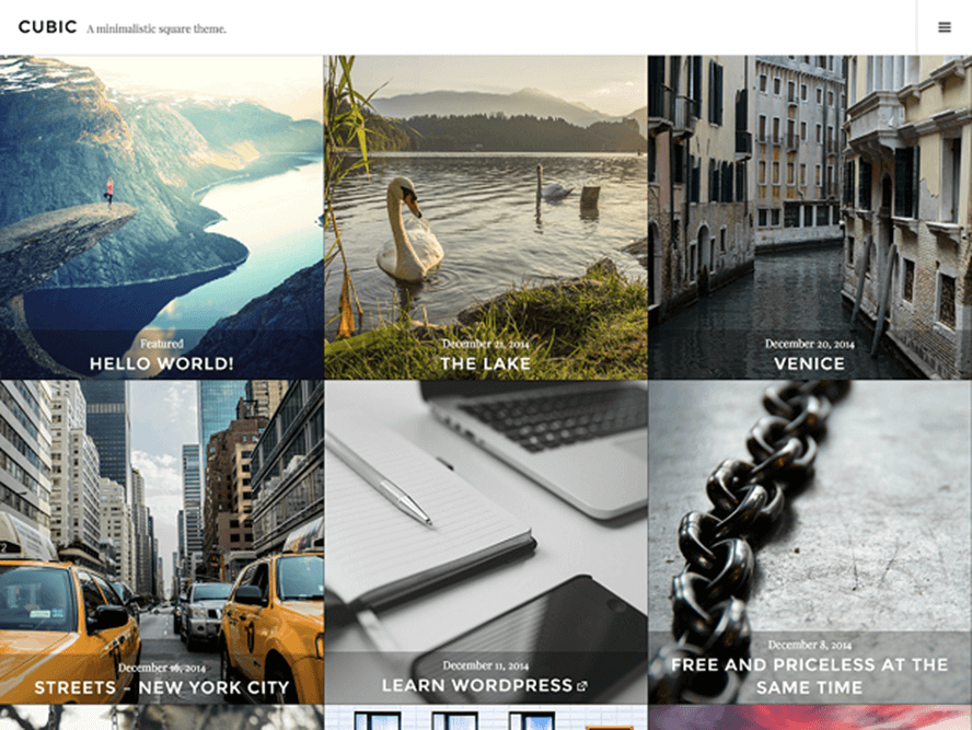 cubic Best Free Photography WordPress Themes 1