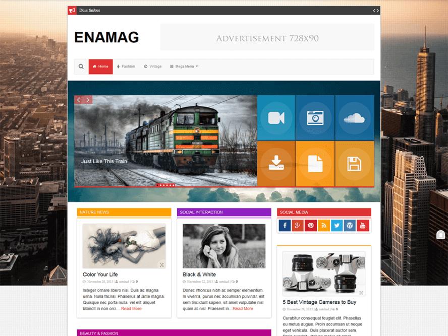 enamag Best Free Responsive Magazine