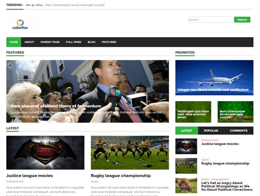 endolf magazine theme Responsive Magazine WordPress