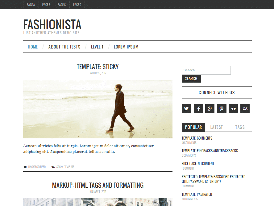 fashionista Responsive Magazine WordPress