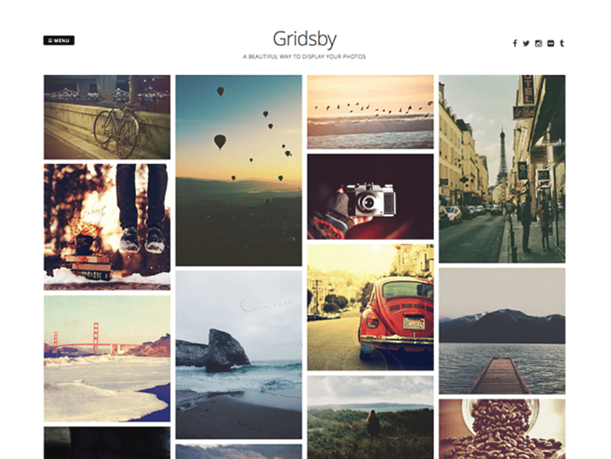 gridsby theme Photography WordPress Themes 1
