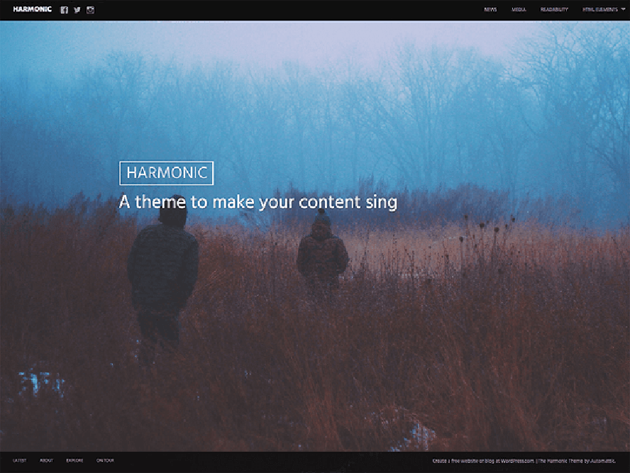 harmonic theme Photography WordPress Themes 1