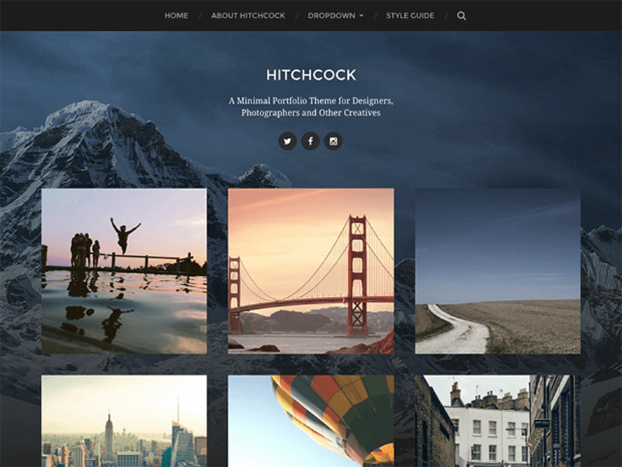 hitchcock theme Photography WordPress Themes 1