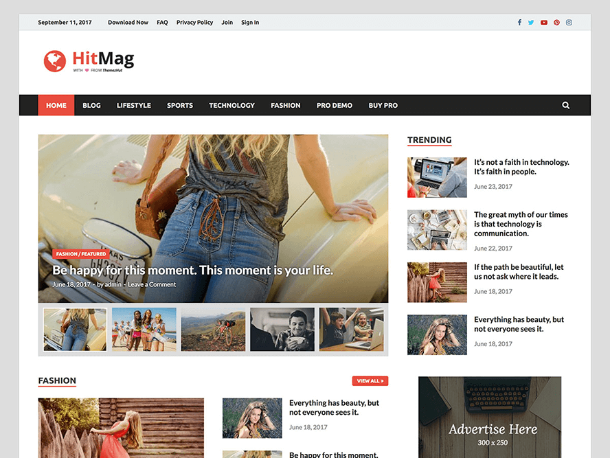 hitmag wordpress magazine theme Responsive Magazine WordPress