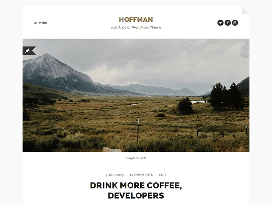 hoffman theme Photography WordPress Themes 1