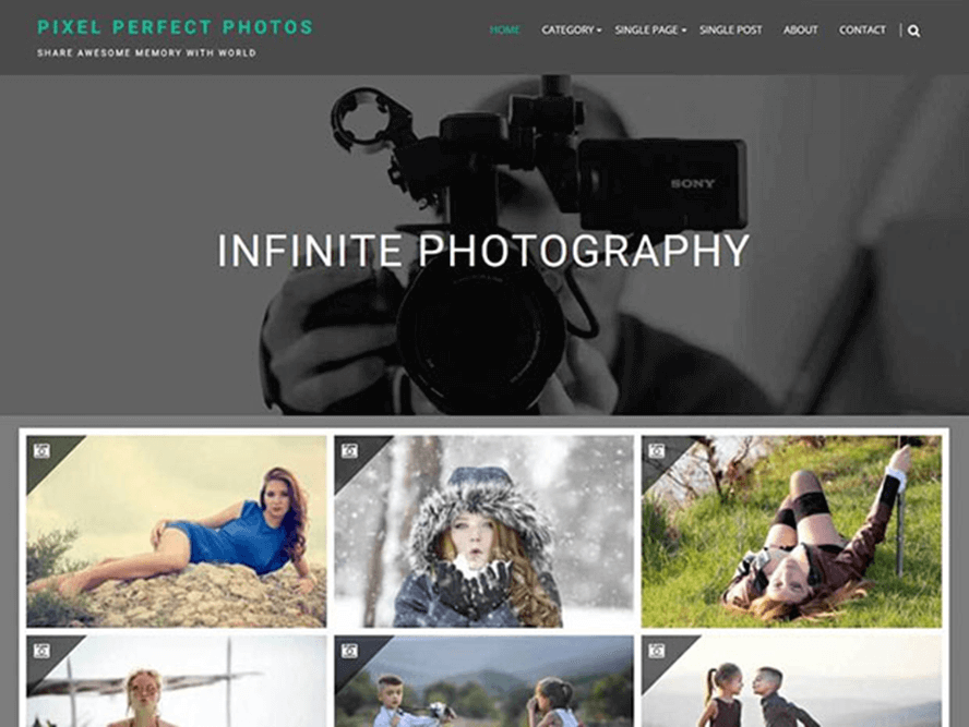 infinite photography pthemes theme Photography WordPress Themes 1 1