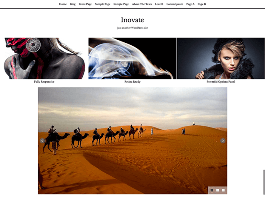 inovate theme Photography WordPress Themes 1