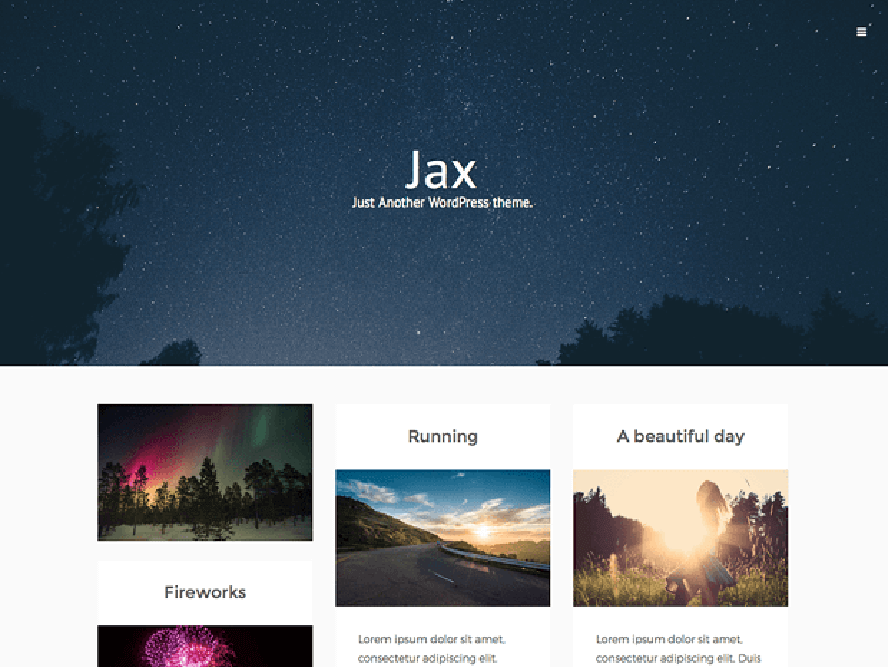 jaxlite theme Photography WordPress Themes 1