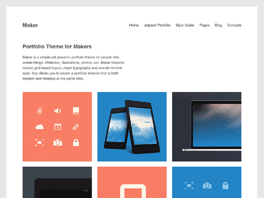 maker theme Photography WordPress Themes 1