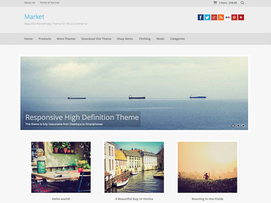 market theme Photography WordPress Themes 1