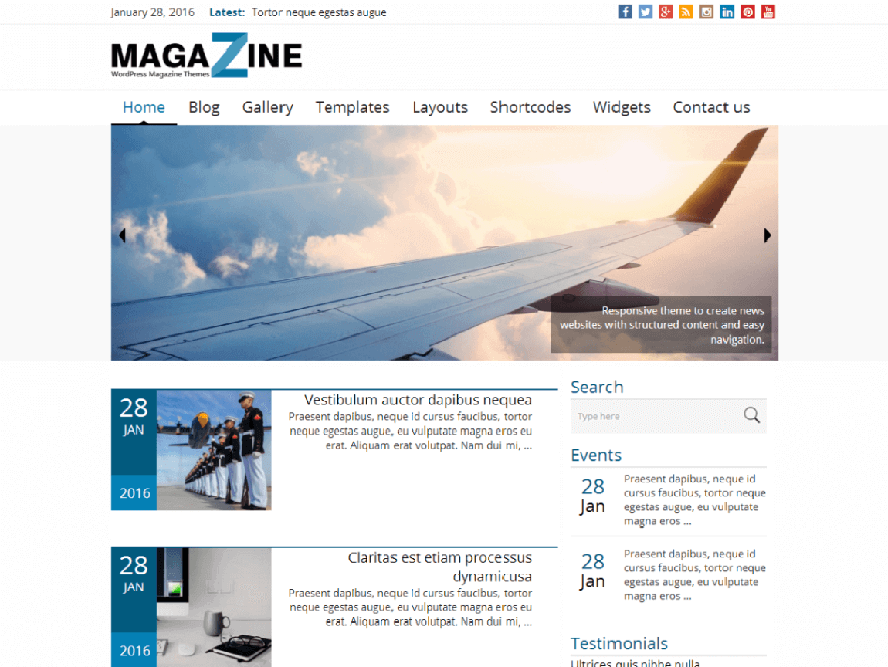 news magazine Best Responsive Magazine WordPress Theme
