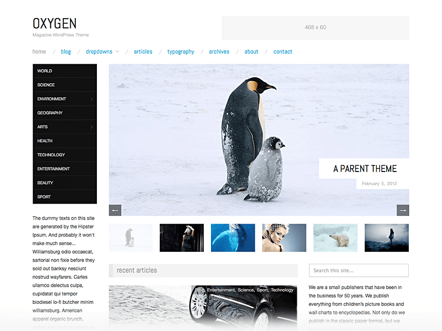 oxygen theme Magazine WordPress Theme