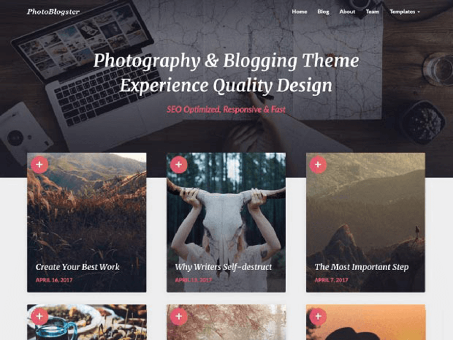 photoblogster ptheme Free Photography WordPress Themes 2018 1