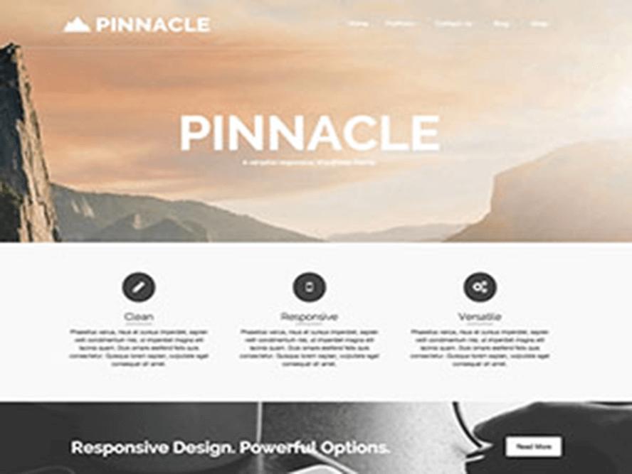 pinnacle featured Magazine WordPress Themes 2018