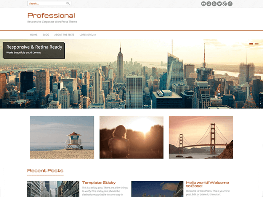 professional Free Photography WordPress Themes 2018