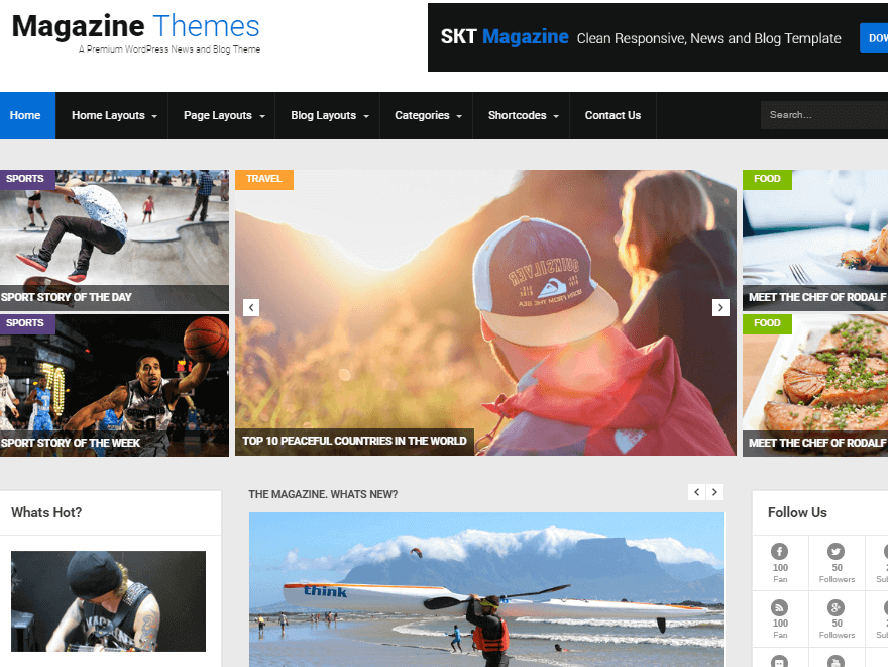 skt magazine Magazine WordPress Themes 2018