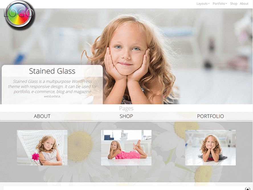 stainedglass Free Photography WordPress Themes 2018