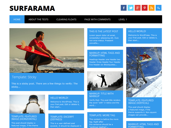 surfarama theme Magazine WordPress Theme