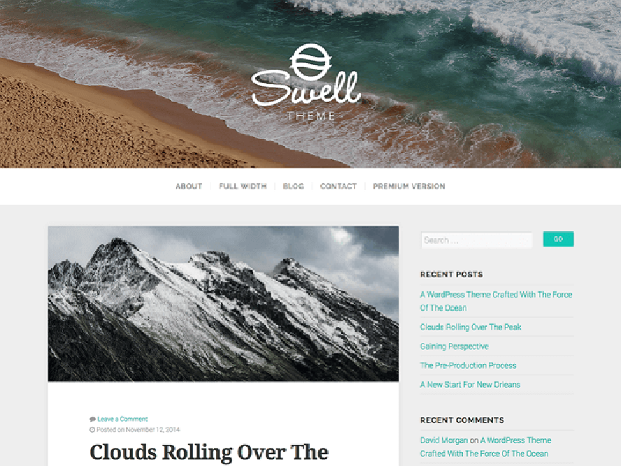 swelllite Free Photography WordPress Themes 2018
