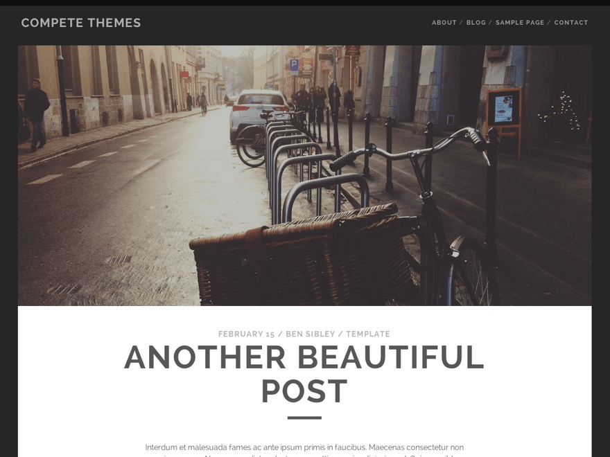 tracks Free Photography WordPress Themes 2018