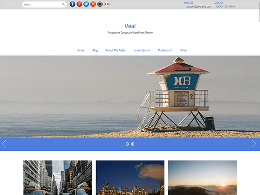 veal Free Photography WordPress Themes 2018