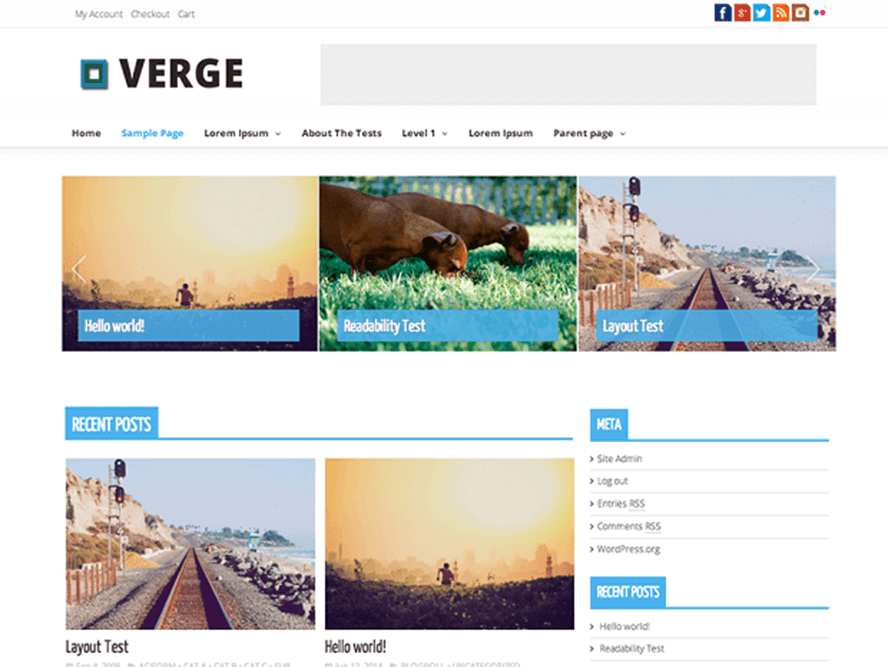 verge Free Photography WordPress Themes 2018