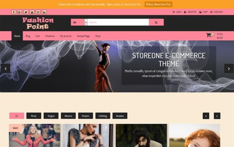 best free ecommerce wordpress themes 2018 4 1