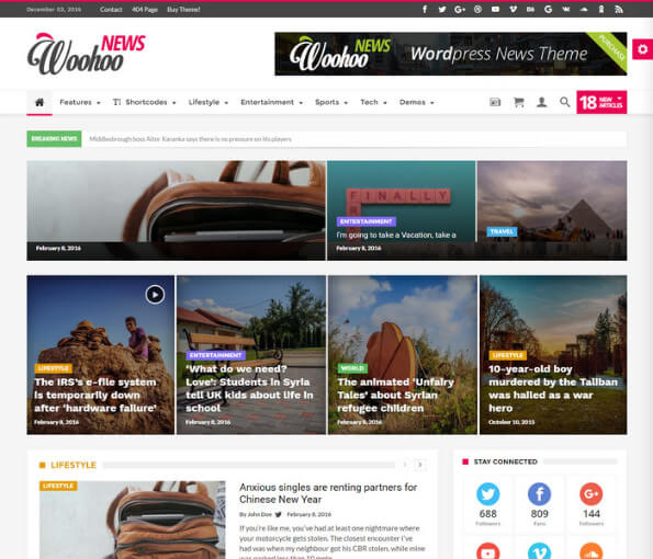 free responsive news website templates 4