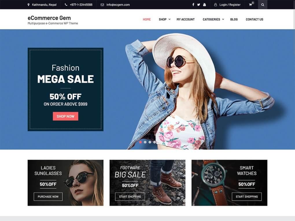free wordpress ecommerce themes with slider 2