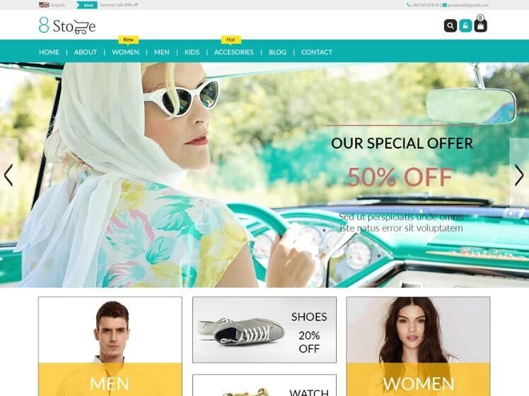 free wordpress ecommerce themes with slider 3