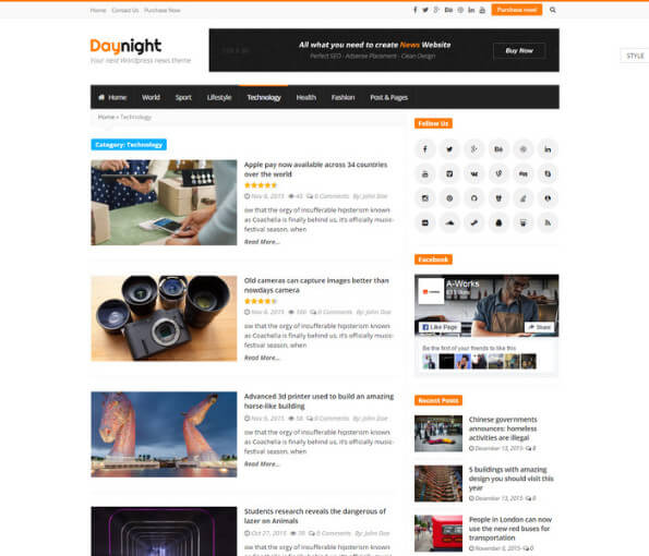 news portal wordpress theme free 4 1