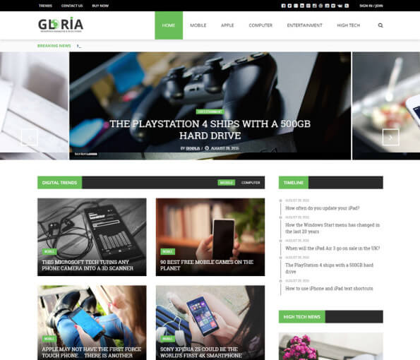 wordpress news themes free download 4 1